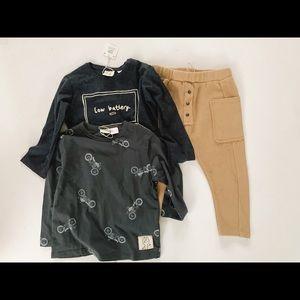 Zara boy jogger and tops bundle